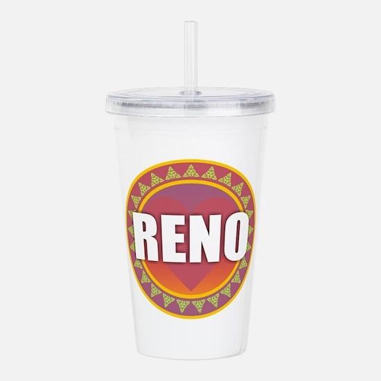 Reno Sun Heart Acrylic Double-wall Tumbler