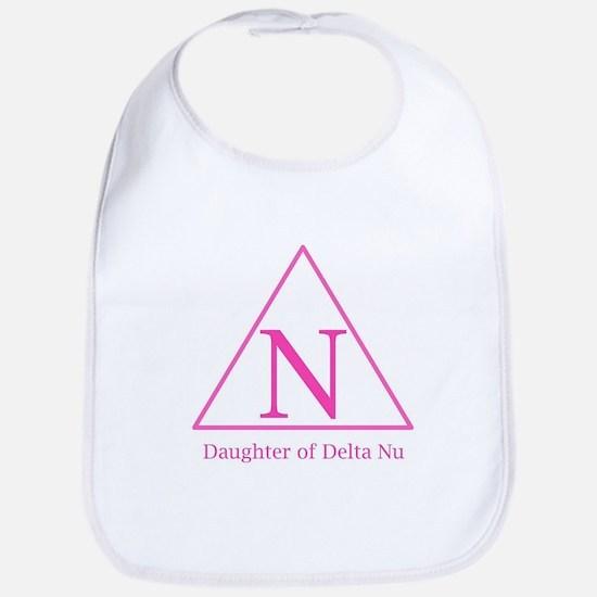 Daughter of Delta Nu Baby Bib