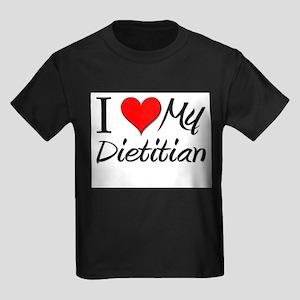 I Heart My Dietitian Kids Dark T-Shirt