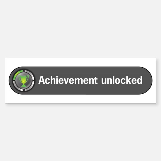 Achievement Unlocked Bumper Bumper Bumper Sticker
