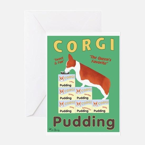 Corgi Pudding Greeting Card