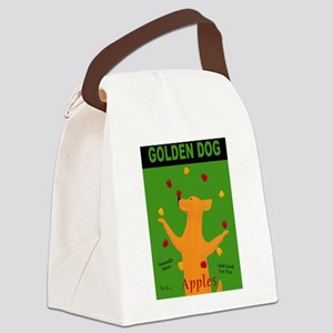 Golden Dog Canvas Lunch Bag