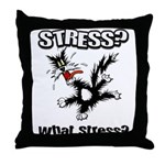 Stressed Cat Throw Pillow