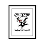Stressed Cat Framed Panel Print