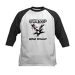 Stressed Cat Kids Baseball Jersey