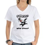 Stressed Cat Women's V-Neck T-Shirt