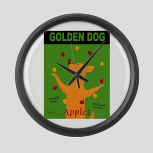 Golden Dog Large Wall Clock