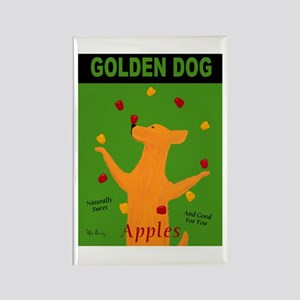 Golden Dog Rectangle Magnet