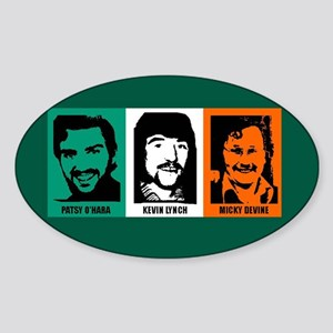 3 Hungerstrikers Oval Sticker