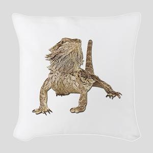 Bearded Dragon Woven Throw Pillow