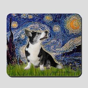 Starry Night / Welsh Corgi Mousepad