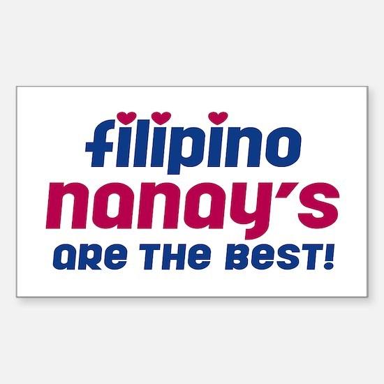 Filipino Nanay Rectangle Decal