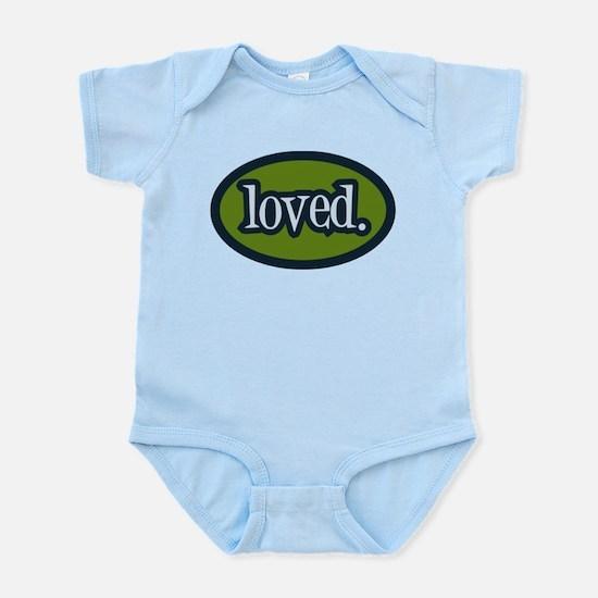 Loved (blue) Infant Bodysuit