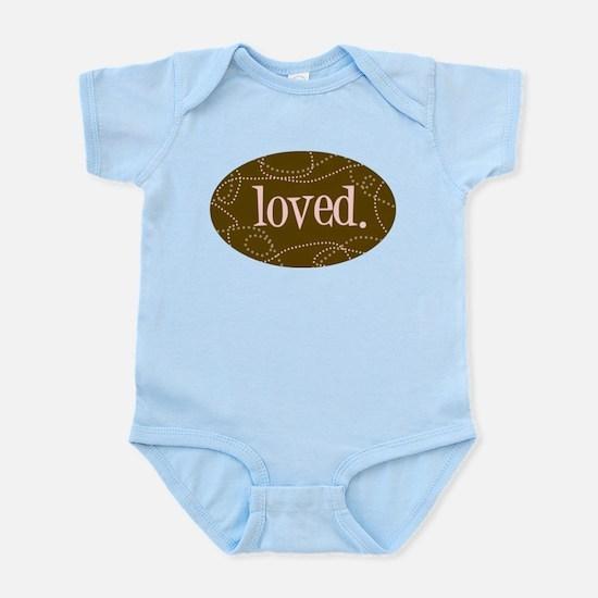 Loved (pink) Infant Bodysuit