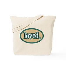 Loved (white) Tote Diaper Bag