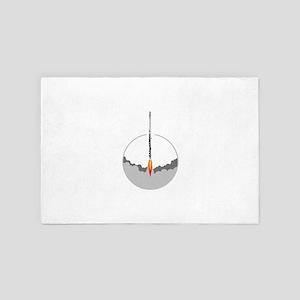 flute rocket 4' x 6' Rug