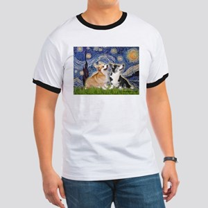 Starry Night / Corgi pair Ringer T