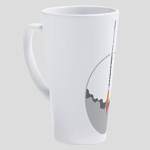flute rocket 17 oz Latte Mug