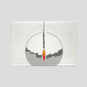 flute rocket Magnets