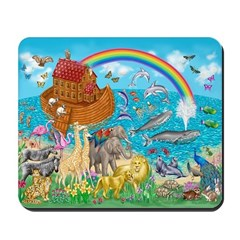 Noah's Ark Animal Mousepad