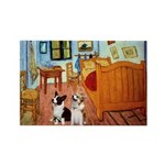 Room / Corgi pair Rectangle Magnet (10 pack)