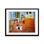 Room / Corgi pair Framed Panel Print