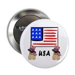 Patriotic USA Pug Dogs 2.25