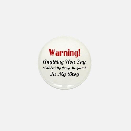 Blogger Warning Mini Button