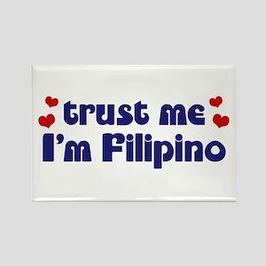 Trust Me I'm Filipino Rectangle Magnet