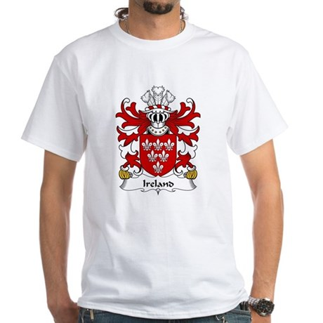 Ireland Family Crest White T-Shirt