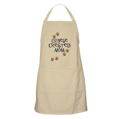 Chinese Crested Mom BBQ Apron