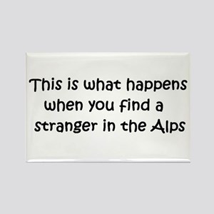 Stranger in the Alps Rectangle Magnet