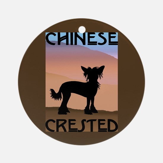Craftsman Chinese Crested Ornament (Round)