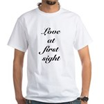 Love At First Sight White T-Shirt