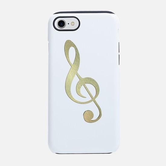Gold Treble Clef iPhone 8/7 Tough Case