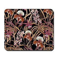 Orchid Print Mousepad