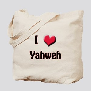 I Love (Heart) Yahweh Tote Bag