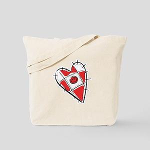 Cute Pin Cushion Patchwork Heart Design Tote Bag