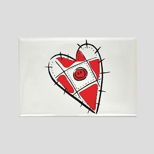 Cute Pin Cushion Patchwork Heart Design Rectangle
