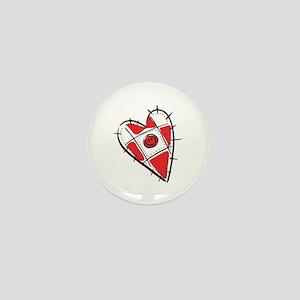 Cute Pin Cushion Patchwork Heart Design Mini Butto