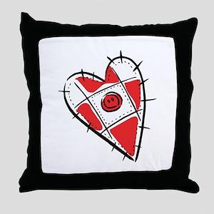 Cute Pin Cushion Patchwork Heart Design Throw Pill