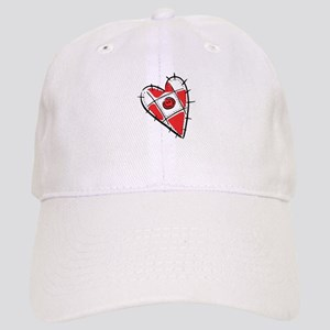 Cute Pin Cushion Patchwork Heart Design Cap