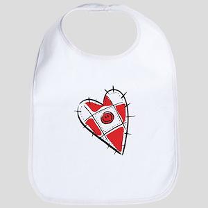 Cute Pin Cushion Patchwork Heart Design Bib