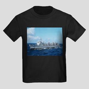 USS Detroit Ship's Image Kids Dark T-Shirt
