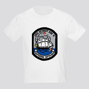USS Detroit AOE 4 Kids Light T-Shirt