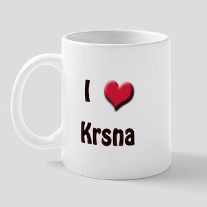 I Love (Heart) Krsna Mug