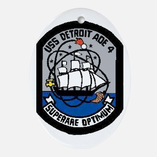 USS Detroit AOE 4 Oval Ornament