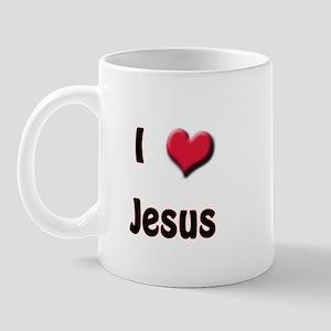 I Love (Heart) Jesus Mug