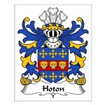 Hoton Family Crest Small Poster