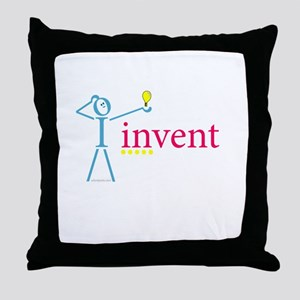 I invent Throw Pillow